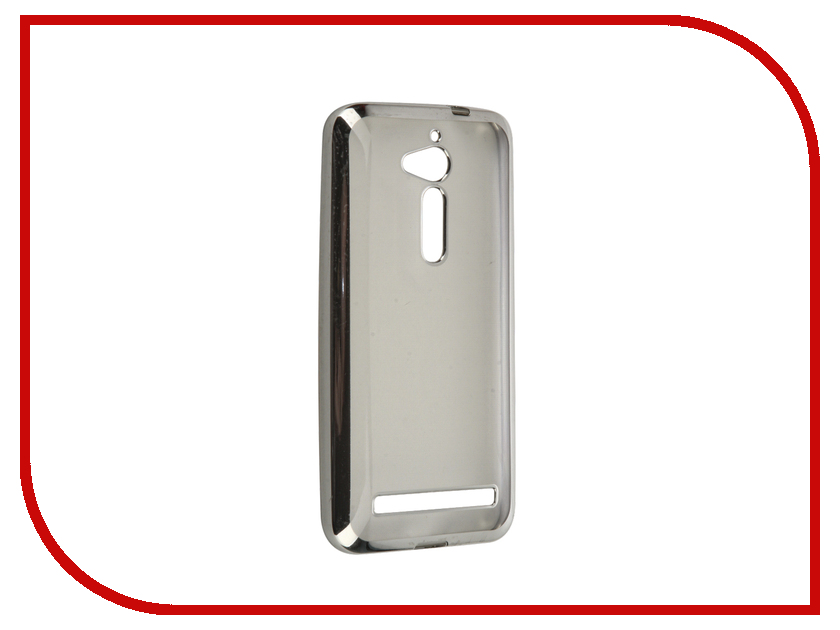 Аксессуар Чехол ASUS ZenFone Go ZB500KG SkinBox Silicone Chrome Border 4People Silver T-S-AZB500KG-008 аксессуар чехол asus zenfone 3 zs570kl skinbox silicone chrome border 4people gold t s azs570kl 008