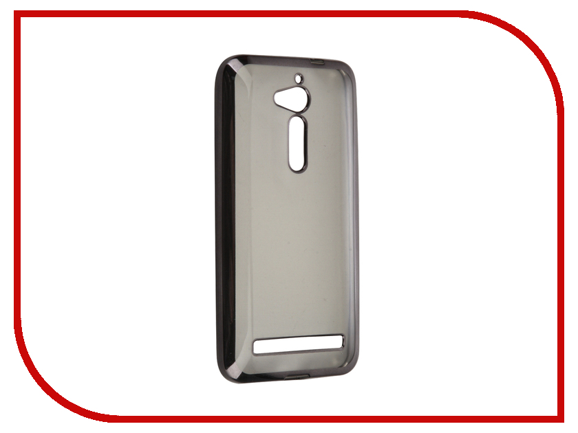 Аксессуар Чехол ASUS ZenFone Go ZB500KG SkinBox Silicone Chrome Border 4People Dark-Silver T-S-AZB500KG-008<br>