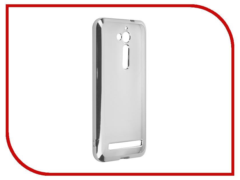 Аксессуар Чехол ASUS ZenFone Go ZB500KL SkinBox Silicone Chrome Border 4People Silver T-S-AZZB500KL-008 аксессуар чехол asus zenfone go zb500kl zibelino classico black zcl asu zb500kl blk
