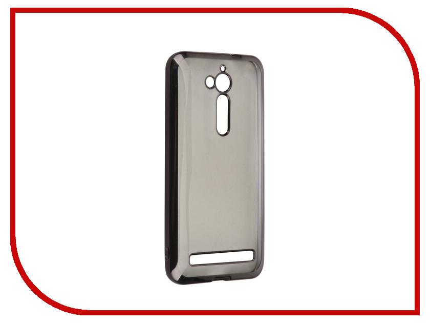 Аксессуар Чехол ASUS ZenFone Go ZB500KL SkinBox Silicone Chrome Border 4People Dark-Silver T-S-AZZB500KL-008<br>