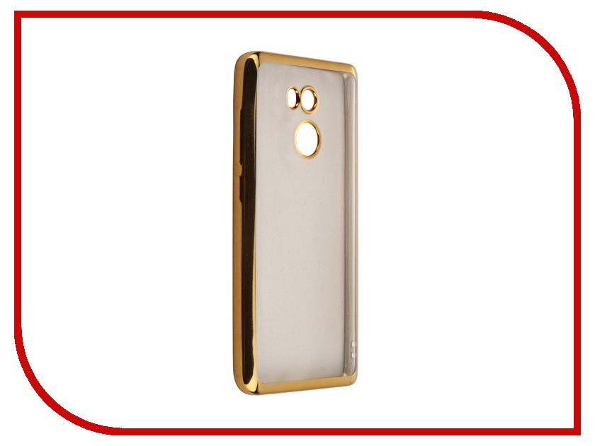 Аксессуар Чехол Xiaomi RedMi 4 SkinBox Silicone Chrome Border 4People Gold T-S-XR4-008