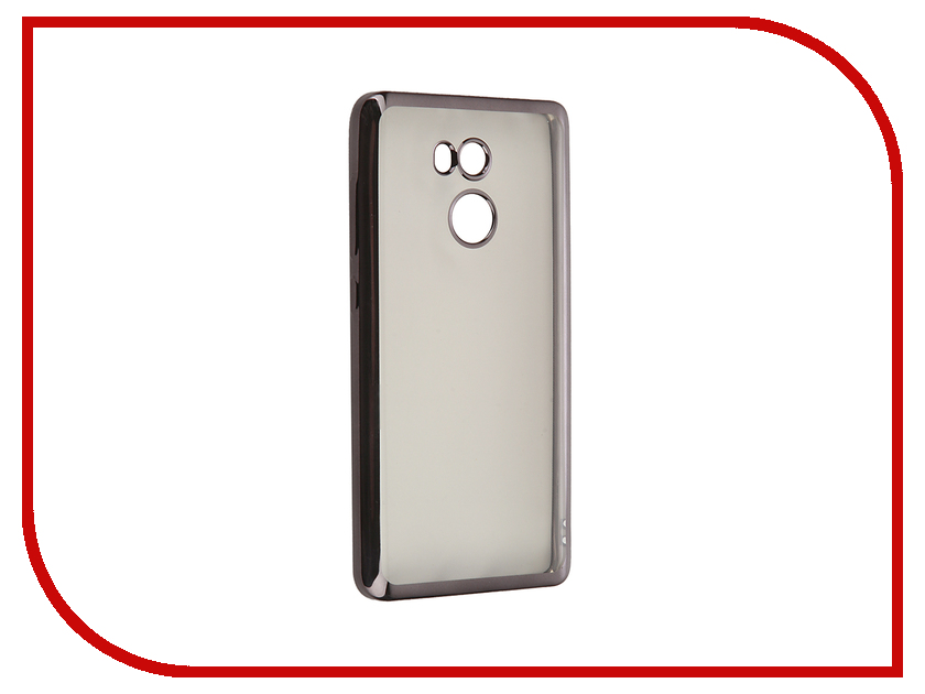 все цены на Аксессуар Чехол Xiaomi RedMi 4 SkinBox Silicone Chrome Border 4People Dark-Silver T-S-XR4-008 онлайн