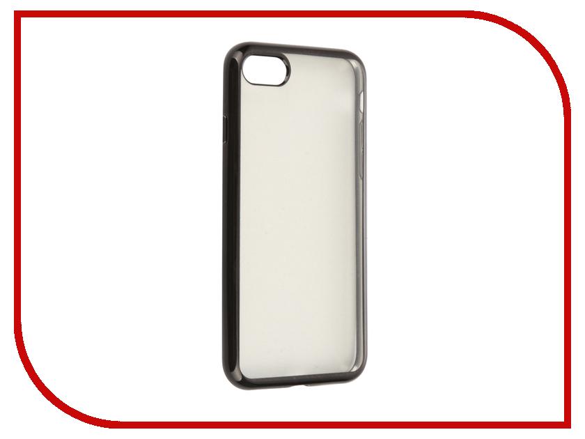 Аксессуар Чехол SkinBox Silicone Chrome Border 4People для iPhone 7 Black T-S-AI7-008<br>