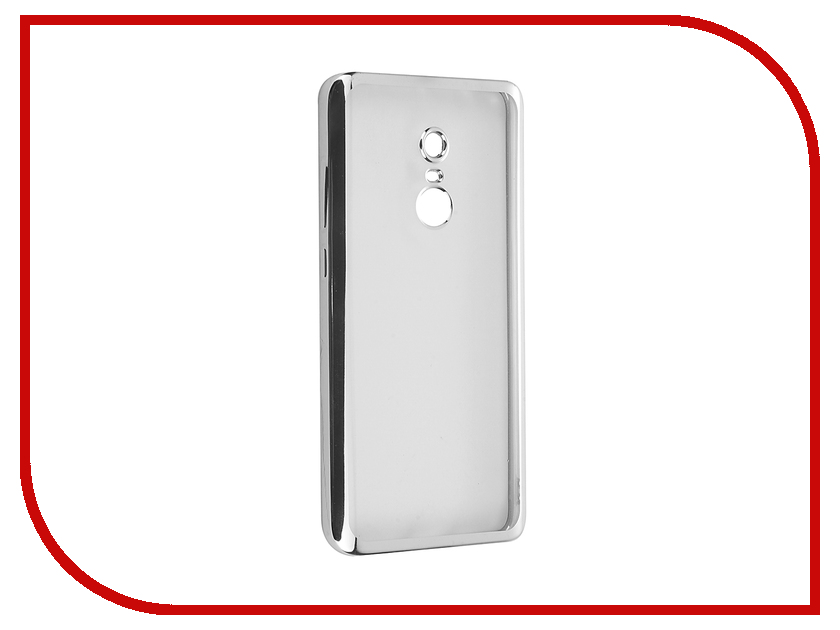 Аксессуар Чехол для Xiaomi Redmi Note 4 SkinBox Silicone Chrome Border 4People Silver T-S-XRN4-008
