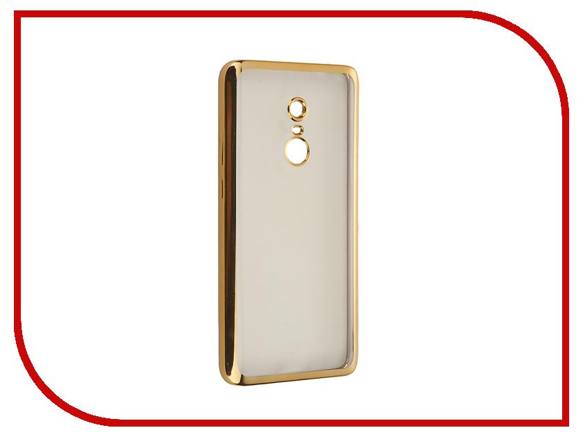 Аксессуар Чехол Xiaomi Redmi Note 4 SkinBox Silicone Chrome Border 4People Gold T-S-XRN4-008<br>