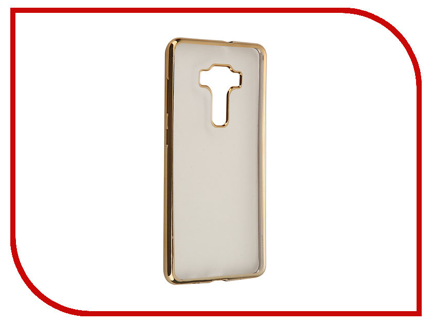 Аксессуар Чехол ASUS ZenFone 3 ZS570KL SkinBox Silicone Chrome Border 4People Gold T-S-AZS570KL-008 аксессуар чехол накладка samsung galaxy a3 2017 skinbox silicone chrome border 4people gold t s sga32017 008