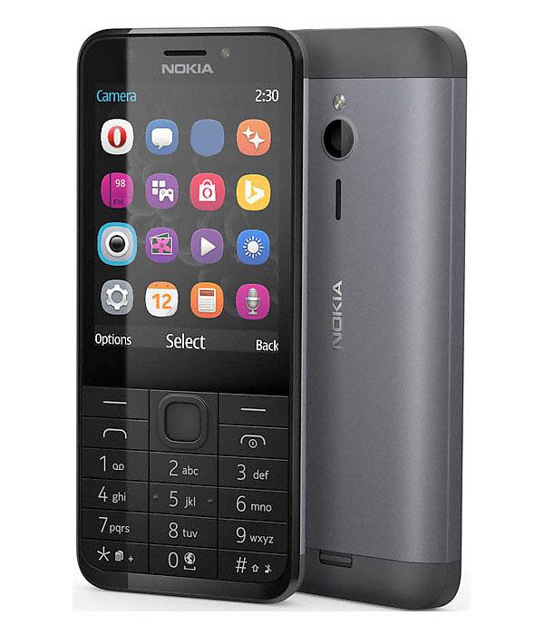Сотовый телефон Nokia 230 (RM-1172) Dual Sim Black-Silver Выгодный набор + серт. 200Р!!!