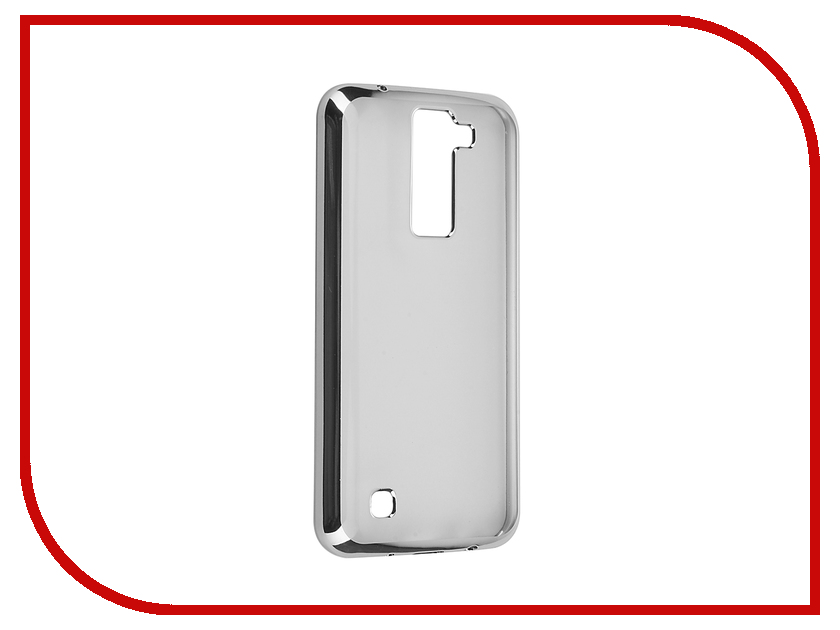 Аксессуар Чехол LG K8 SkinBox Silicone Chrome Border 4People Silver T-S-LK8-008<br>