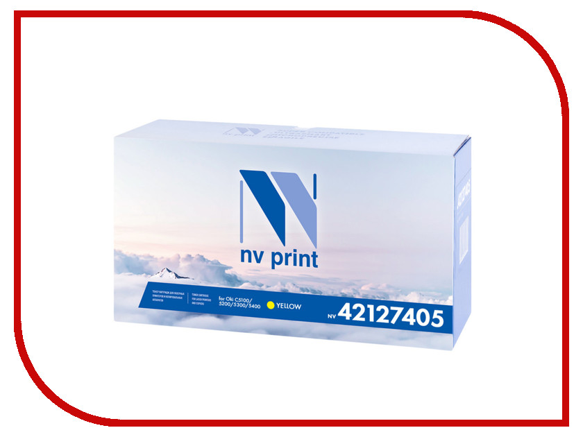 Картридж NV Print 421227405 Yellow для Oki C5100/5200/5300/5400 42127405 5000k картридж nv print для samsung sl m2620 2820 2870 3000k nv mltd115l