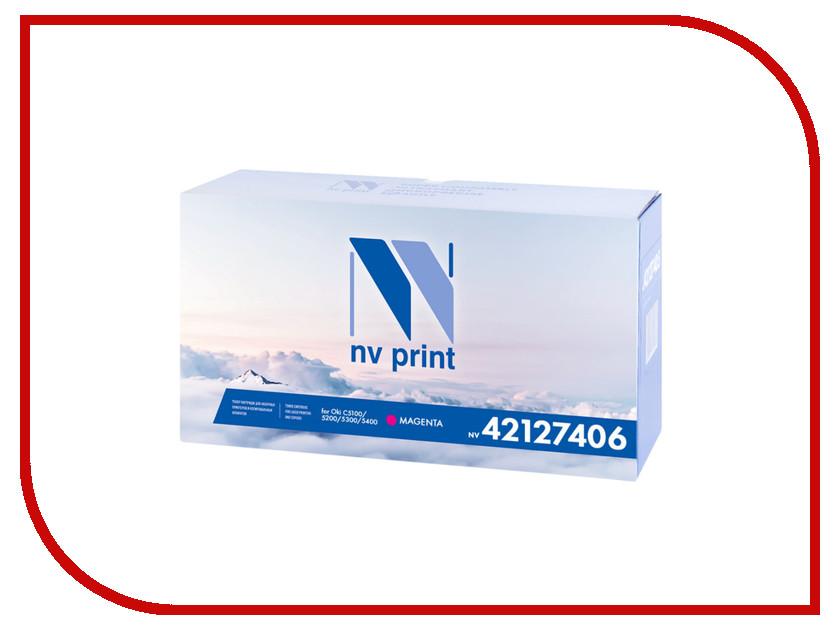 Картридж NV Print 42127406 Magenta для Oki C5100/5200/5300/5400 5000k картридж nv print q7516a для hp lj 5200 5200dtn 5200l 5200tn 5200n 5200lx