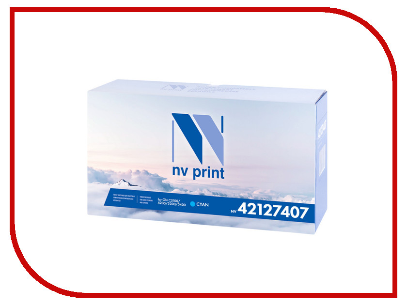 Картридж NV Print 42127407 Cyan для Oki C5100/5200/5300/5400 5000k<br>