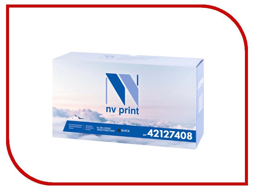 Картридж NV Print 42127408 Black для Oki C5100/5200/5300/5400 5000k картридж для принтера nv print ce310a black