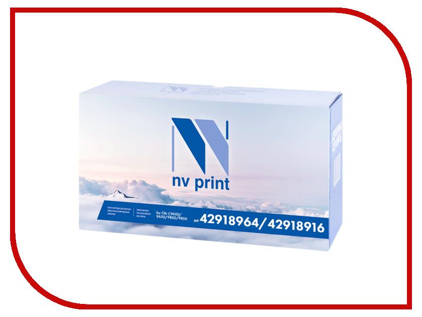 Картридж NV Print 42918964/42918916 Black для Oki C9600/9650/9800/9850 15000k<br>