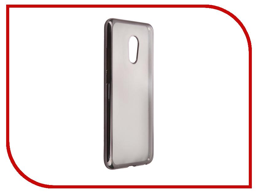 Аксессуар Чехол Meizu Pro 6 SkinBox Silicone Chrome Border 4People Dark Silver T-S-MP6-008 аксессуар чехол meizu pro 6 aksberry