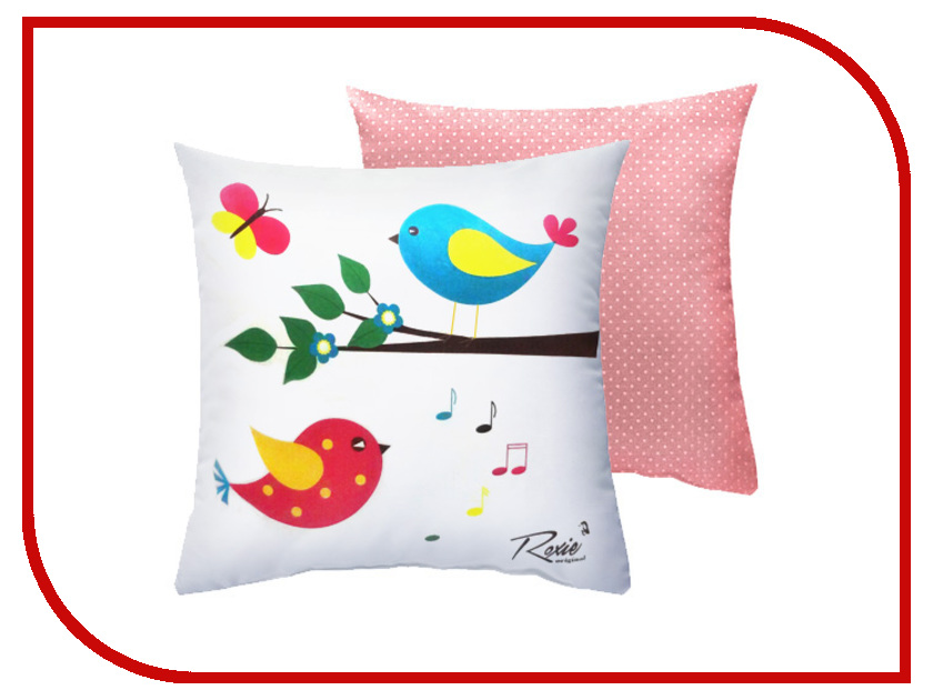 Подушка Roxie Птички Pink 40x40cm