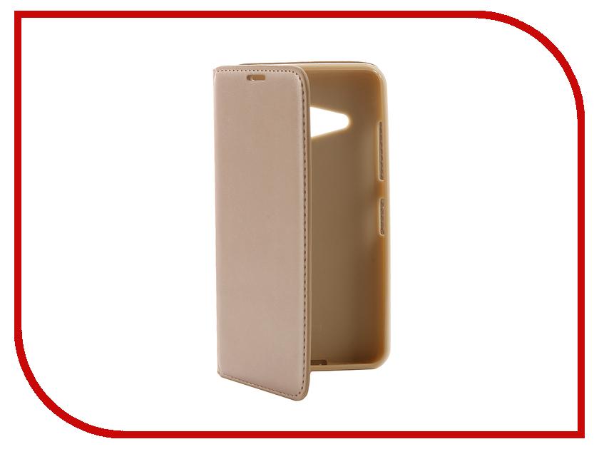 Аксессуар Чехол Microsoft Lumia 550 Cojess Book Case New Gold с визитницей