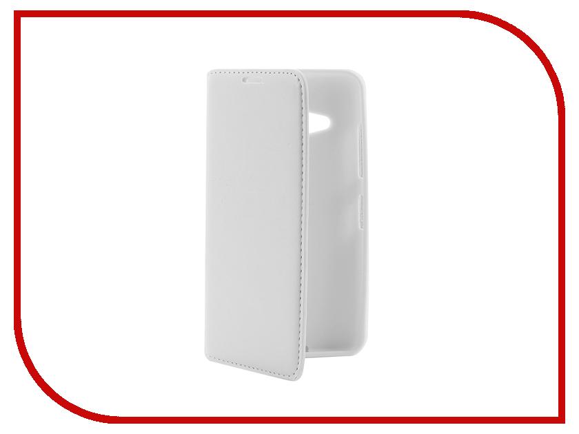 Аксессуар Чехол Microsoft Lumia 550 Cojess Book Case New White с визитницей<br>