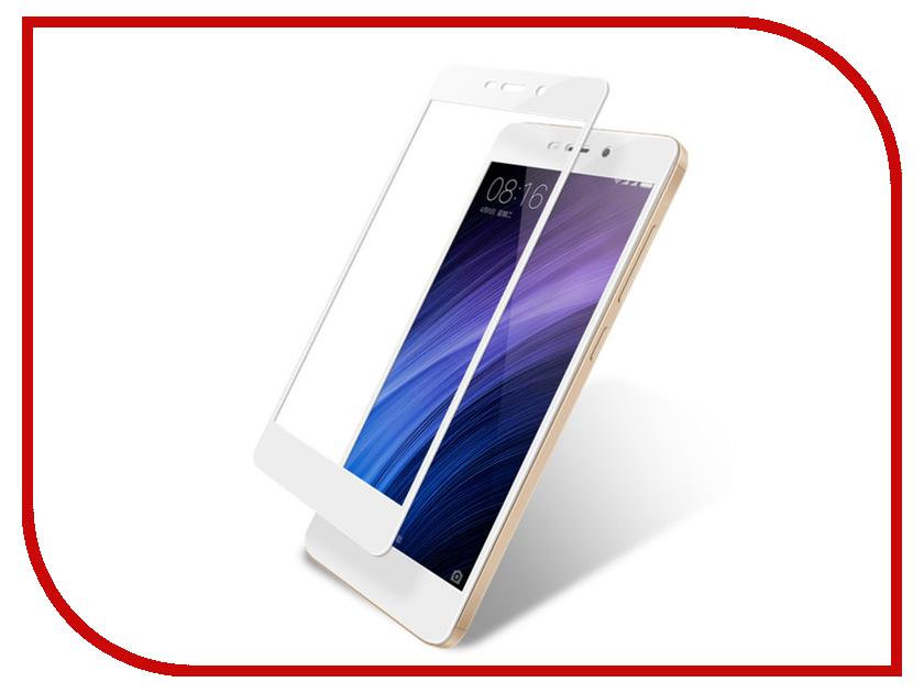 Аксессуар Защитное стекло Xiaomi Redmi 3/3s/3x/3 Pro Zibelino TG Full Screen 0.33mm 2.5D White ZTG-FS-XMI-RDM3-WHT аксессуар чехол xiaomi redmi 3 3s 3 pro ibox blaze silicone gold frame