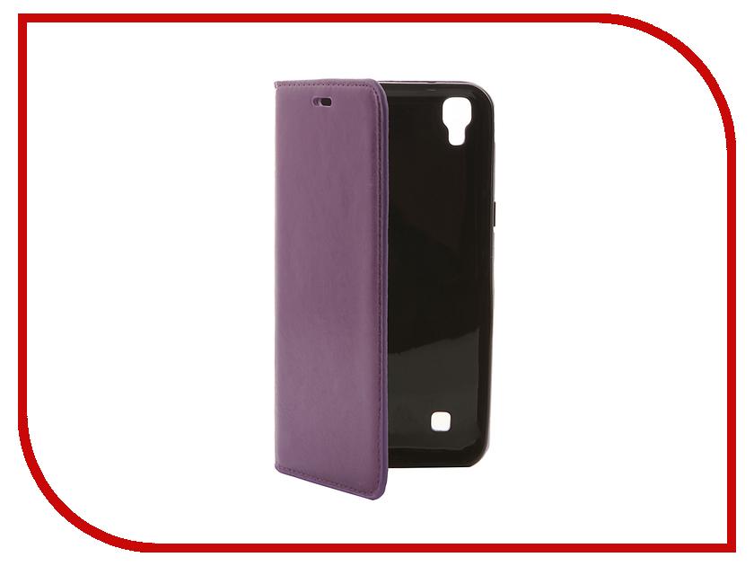 Аксессуар Чехол LG X Power Cojess Book Case New Вид №1 Purple с визитницей<br>