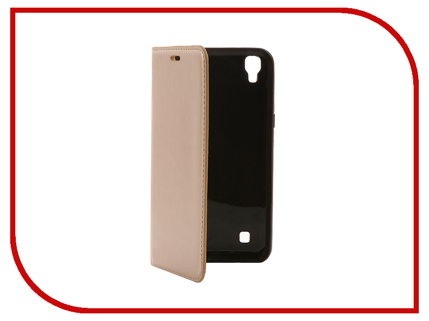 Аксессуар Чехол LG X Power Cojess Book Case New Вид №1 Gold с визитницей<br>