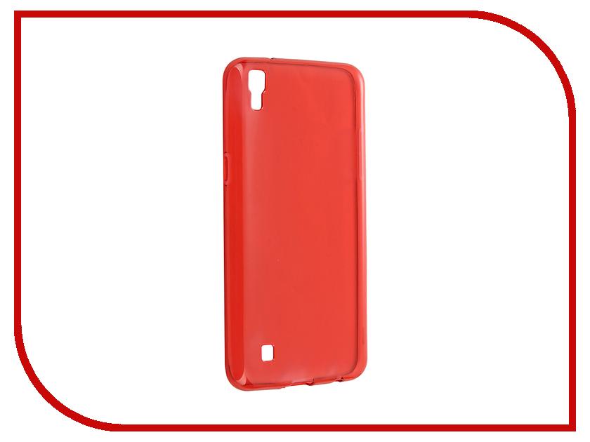 Аксессуар Чехол LG X Power Cojess Silicone TPU 0.8mm Red аксессуар чехол samsung galaxy a3 2017 cojess tpu 0 3mm transparent
