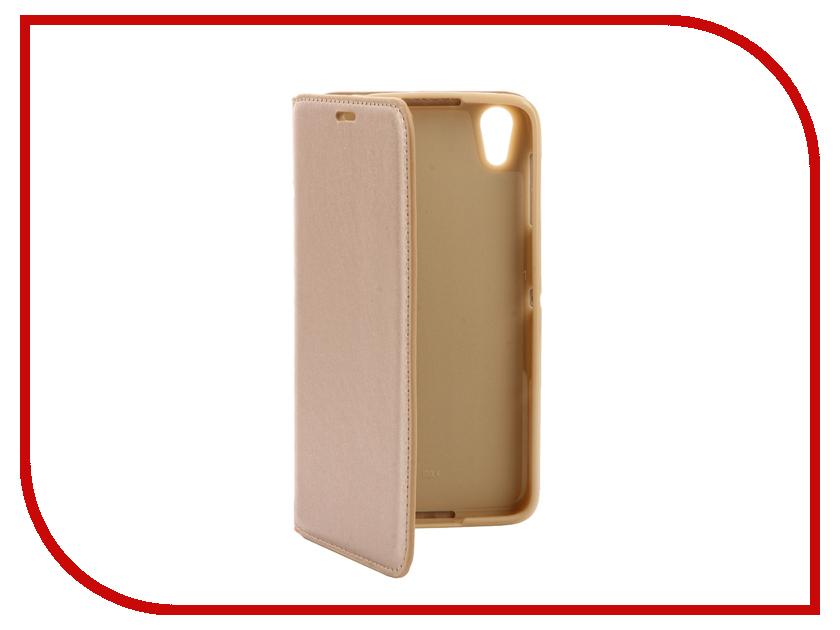 Аксессуар Чехол Alcatel Idol 4 (5.2) 6055K Cojess Book Case New Gold с визитницей