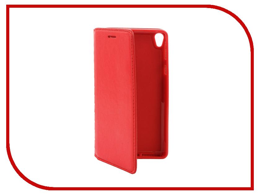 Аксессуар Чехол Sony Xperia E5 Cojess Book Case New Red с визитницей