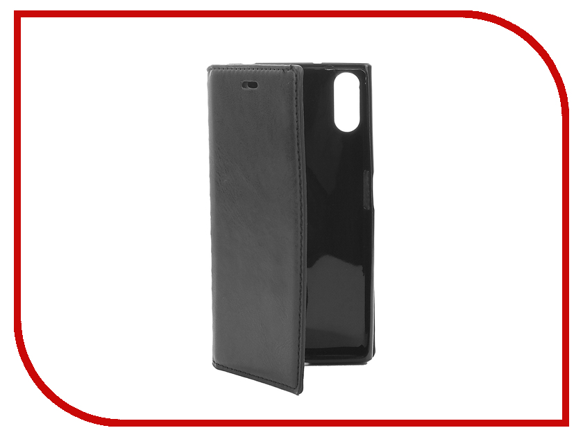 Аксессуар Чехол Sony Xperia XZ Cojess Book Case New Black с визитницей аксессуар чехол sony xperia m4 aqua e2306 e2303 cojess book case time black