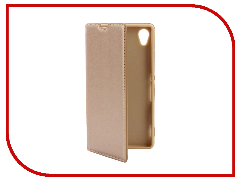 Аксессуар Чехол Sony Xperia M4 Aqua E2306 / E2303 Cojess Book Case New Gold с визитницей