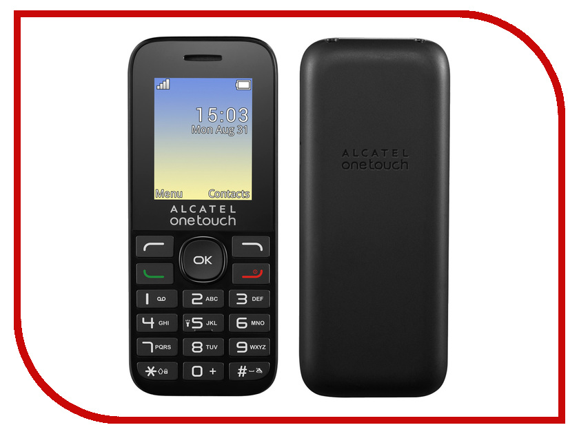 Сотовый телефон Alcatel OneTouch 1020D Volcano Black сотовый телефон alcatel onetouch 2008g black metal silver