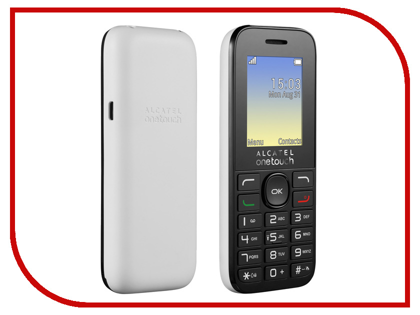 Сотовый телефон Alcatel OneTouch 1020D Pure White