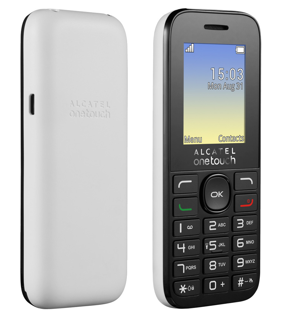 Сотовый телефон Alcatel OneTouch 1020D Pure White цена