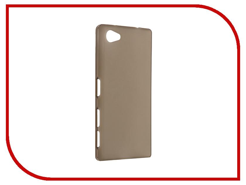 Аксессуар Чехол Sony Xperia Z5 Compact / Z5 Mini Cojess Silicone TPU 0.8mm Grey аксессуар чехол samsung galaxy a3 2017 cojess tpu 0 3mm transparent