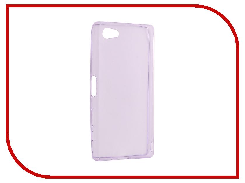 Аксессуар Чехол Sony Xperia Z5 Compact / Z5 Mini Cojess Silicone TPU 0.3mm Purple