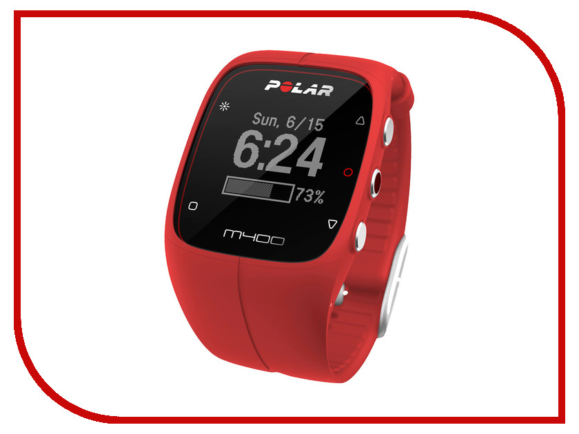 Пульсометр Polar M400 HR Red