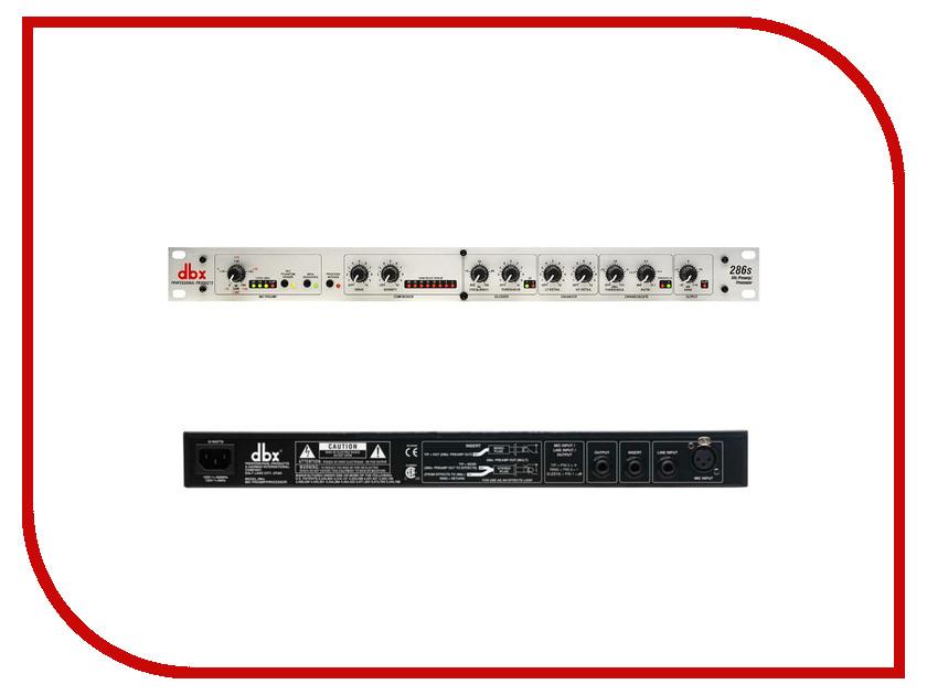 Аудиоинтерфейс DBX 286S микрофонный предусилитель аксессуар dbx gorack 2x2 pa спикер процессор