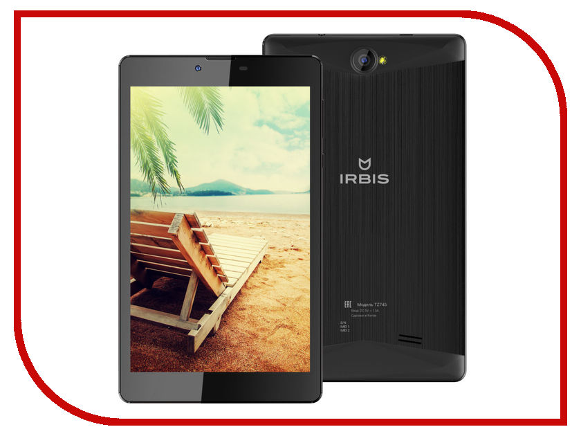 Планшет Irbis TZ745 3G Black (SC7731 1.3 GHz/1024Mb/8Gb/GPS/3G/Wi-Fi/Bluetooth/Cam/7.0/1280x800/Android)