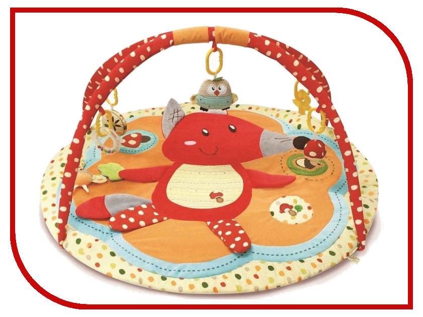 Развивающий коврик Roxy-Kids Лисичка и ее друзья с дугами RPM-3311C roxy kids с прицелом лягушка голубой
