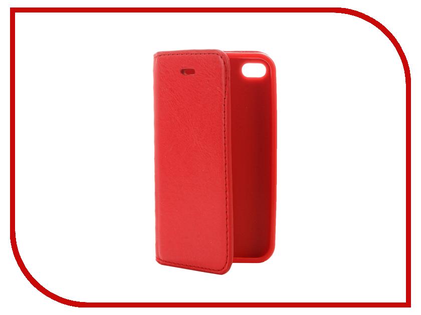 Аксессуар Чехол Cojess Book Case New для APPLE iPhone 4/4S Red с визитницей