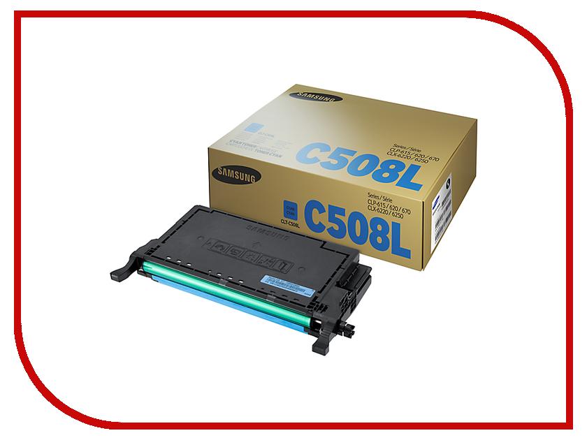 Картридж Samsung CLT-C508L/SEE Cyan для CLP-670ND картридж samsung clt c504s see голубой