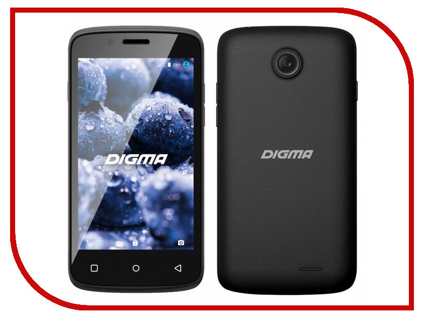 Сотовый телефон Digma VOX A10 3G Black сотовый телефон digma vox s509 3g grey