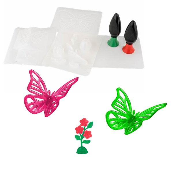 Набор для творчества 3D Magic создания объемных моделей, бабочка и цветок 82001