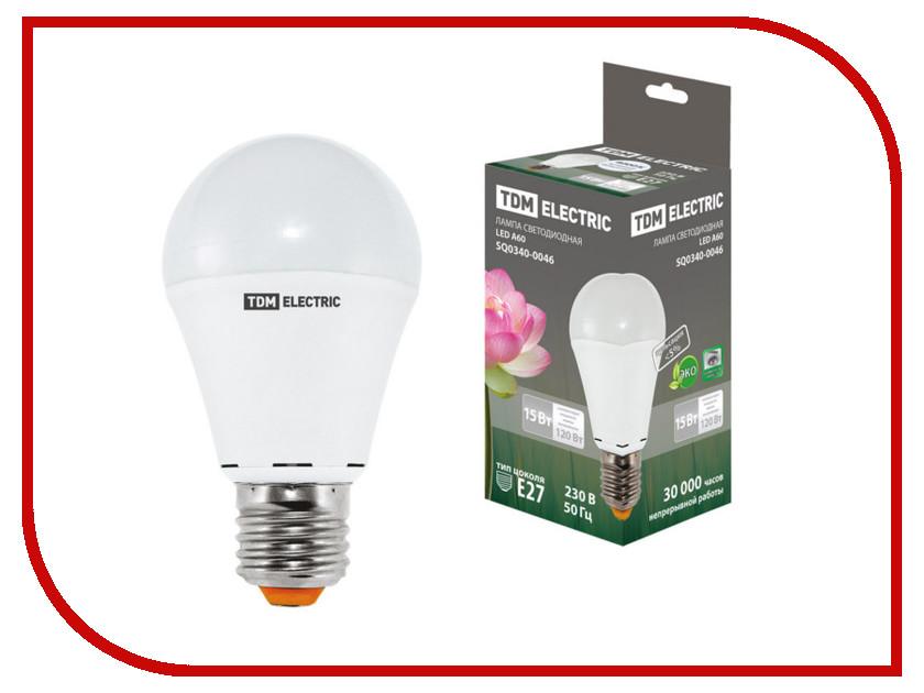 Лампочка TDM-Electric A60 E27 15W 220V 4000K SQ0340-0046 a60 15w 4000k e27