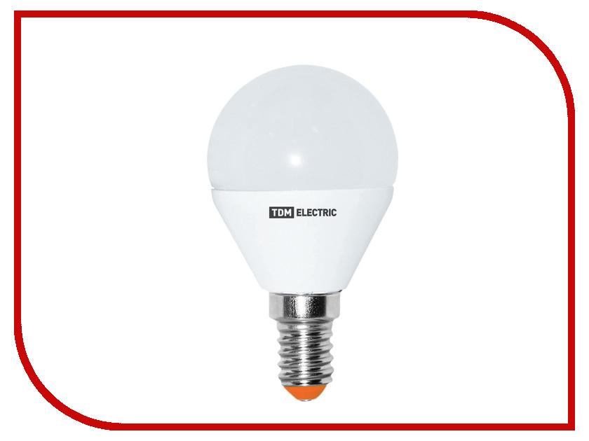 Лампочка TDM-Electric FG45 E14 5W 220V 3000K SQ0340-0008<br>