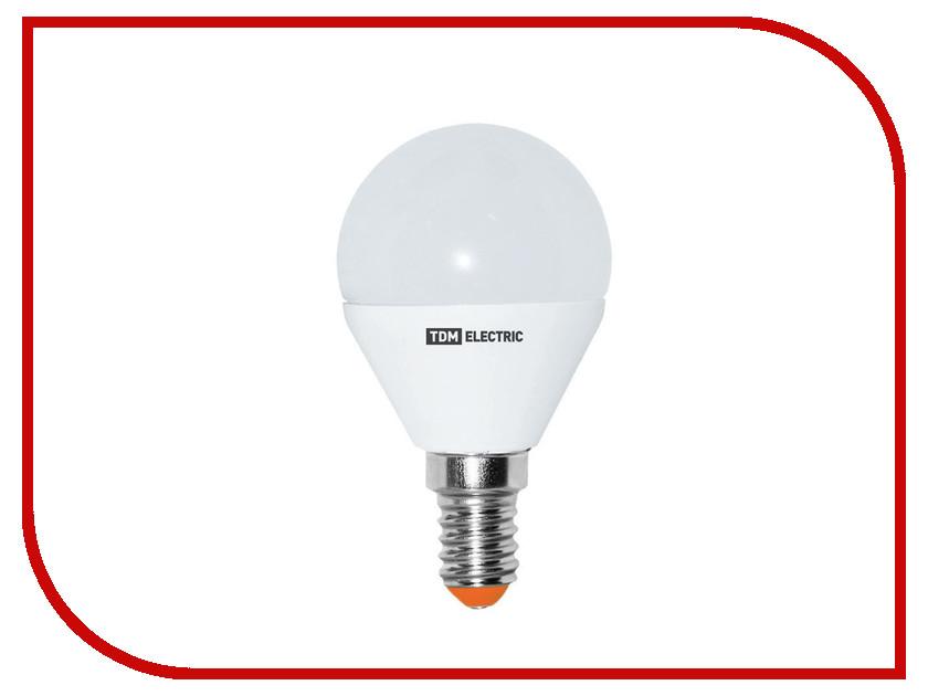 Лампочка TDM-Electric FG45 E14 5W 220V 4000K SQ0340-0007 лампочка tdm electric r39 4w e14 220v 3000k