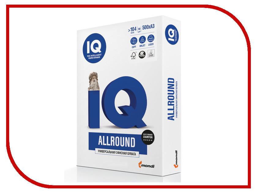 Бумага IQ Allround А4 80g/m2 500л White В+