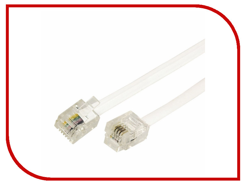 Сетевой кабель Rexant RJ-11 6P4C 10m White 18-3101 аксессуар rexant rj 11 6p4c 7m white 18 3071