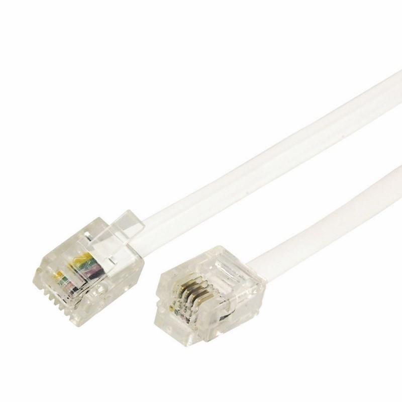 Сетевой кабель Rexant RJ-11 6P4C 10m White 18-3101
