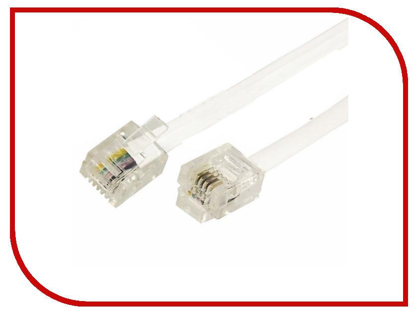 Сетевой кабель Rexant RJ-11 6P4C 5m White 18-3051 аксессуар rexant rj 11 6p4c 7m white 18 3071