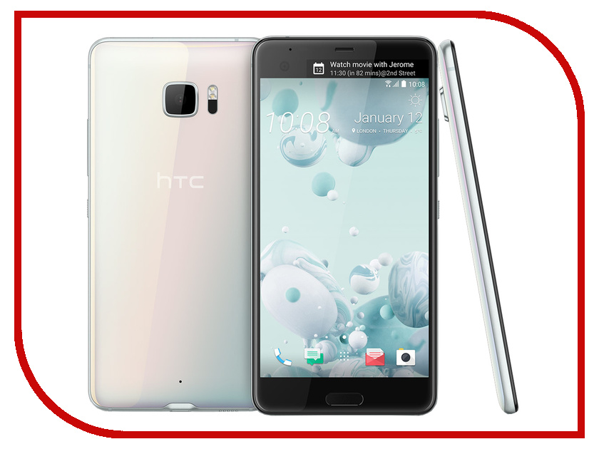 Сотовый телефон HTC U Ultra 64Gb Ice White аксессуар чехол htc u ultra brosco black htc uu book black